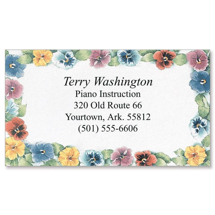 Pansies Business Cards