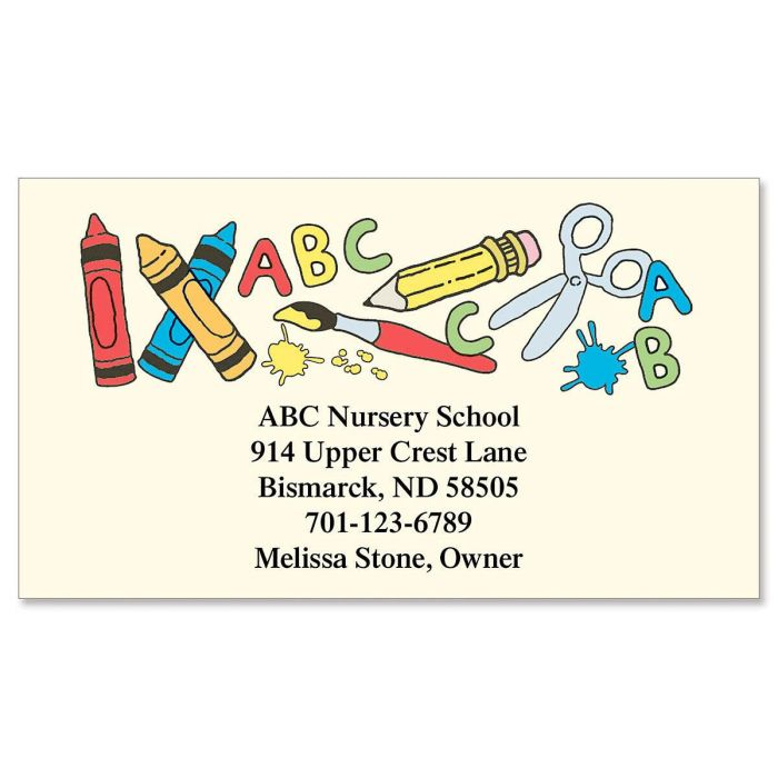 School Tools Business Cards