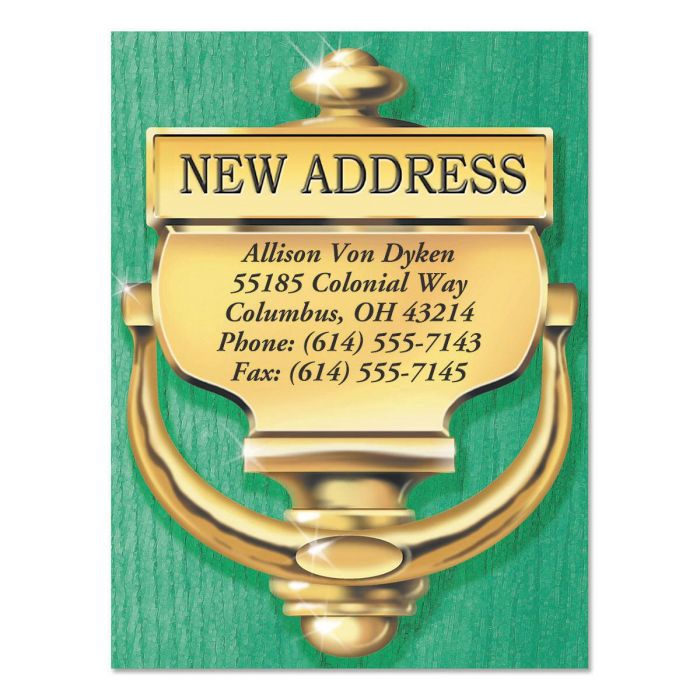 Classic New Address Postcards