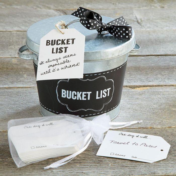 "Metal ""Bucket List"" Bucket"