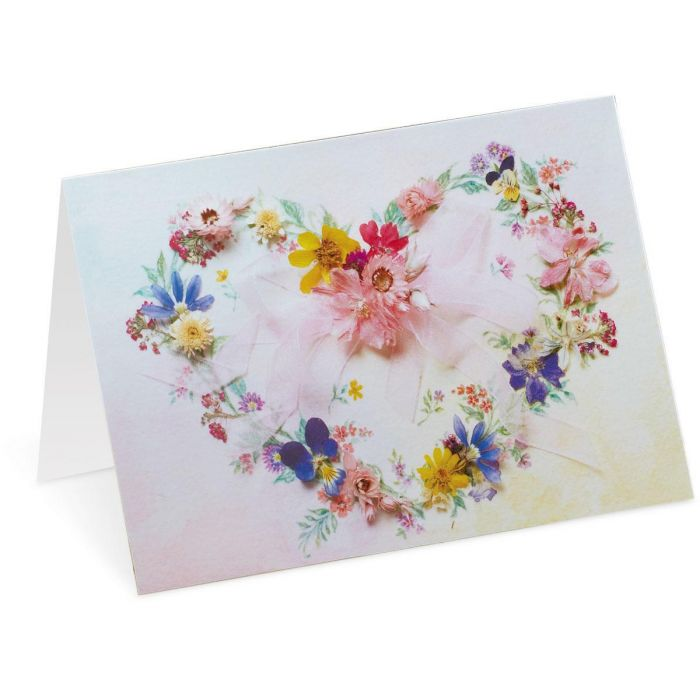 Heart Wreath Custom Note Cards