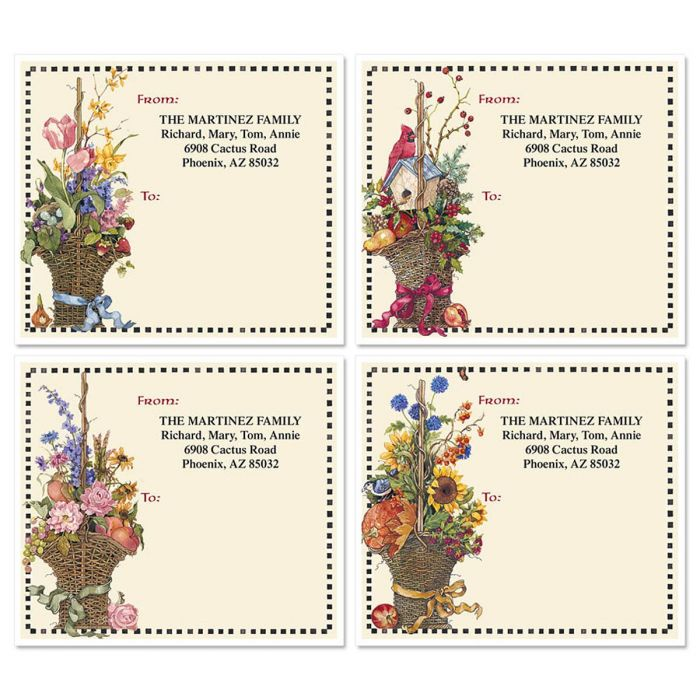 Sandi's Four Seasons Package Labels  (4 Designs)