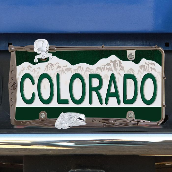 Fishing License Plate Frame | Colorful Images