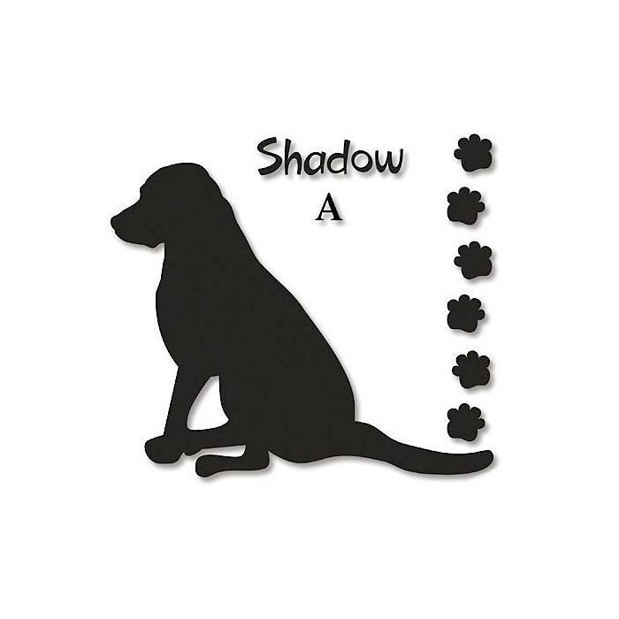 Dog Silhouette Personalized Vinyl Wall Art | Colorful Images