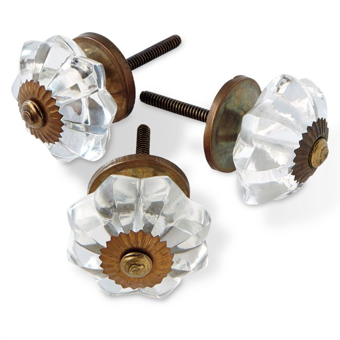 Floral Burst Glass Knobs