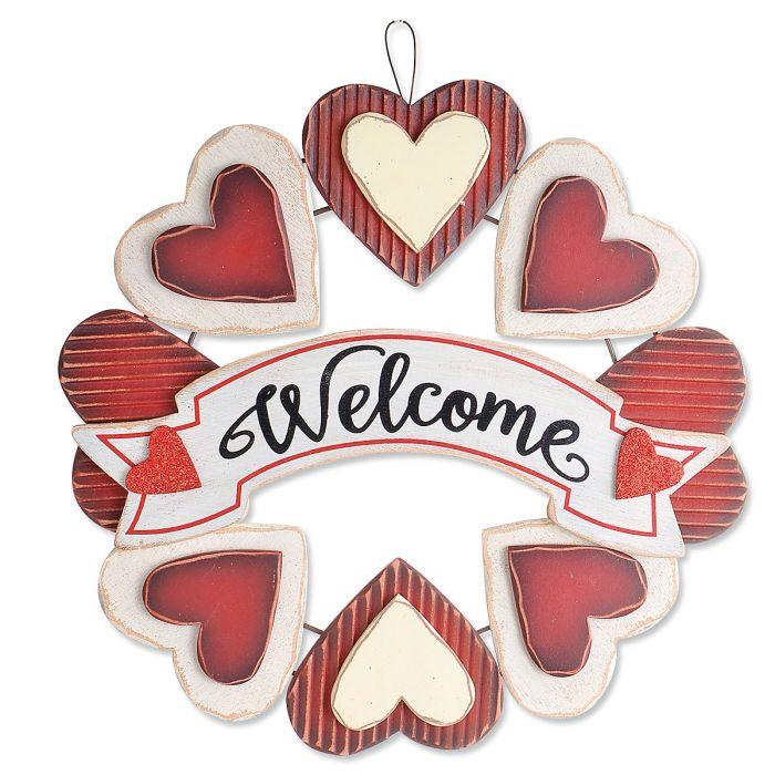 Welcome Heart Wreath