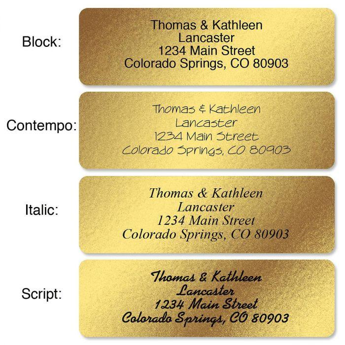 Gold Foil Standard Rolled Return Address Labels