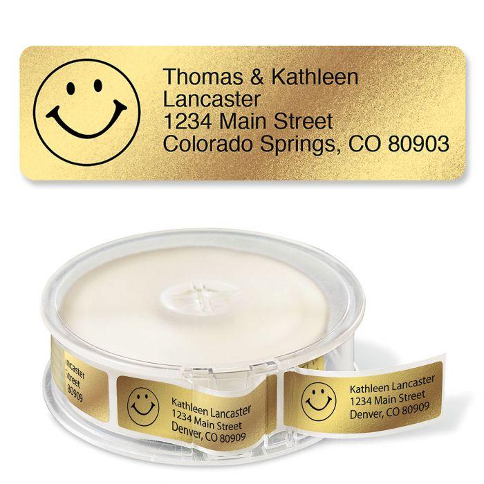 Gold Foil with Symbol Standard Rolled Address Labels
