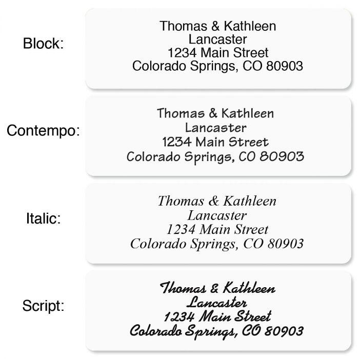 Clear Standard Rolled Return Address Labels