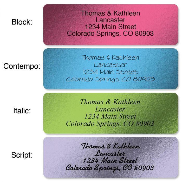 Metallic Rainbow  Rolled Address Label  (4 Colors)
