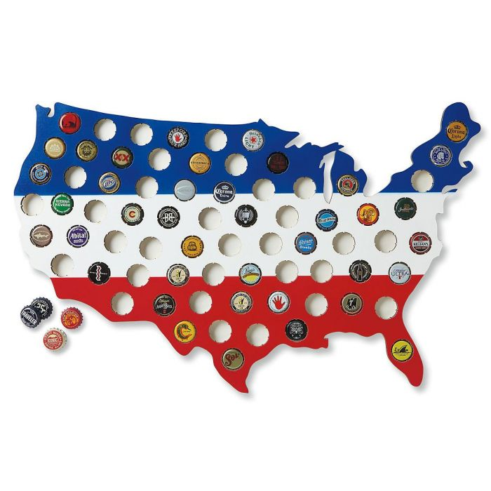 US Map Bottlecap Collector