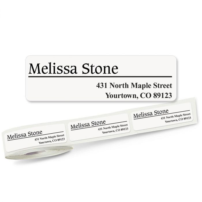 Conventional Off-Center Rolled Address Labels - 3 Colors (Roll of 250)