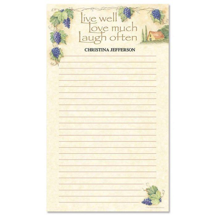 Live, Love, Laugh Custom Memo Pads
