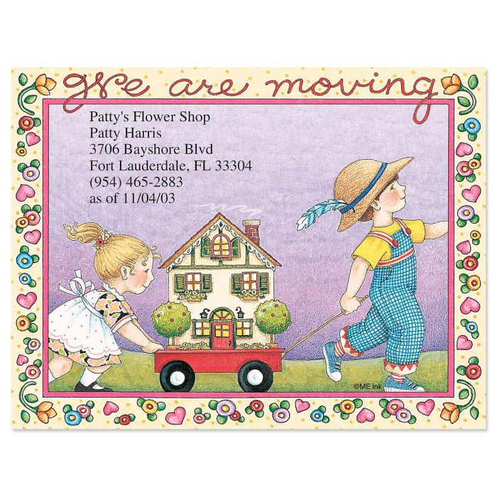 We Are Moving New Address Postcards