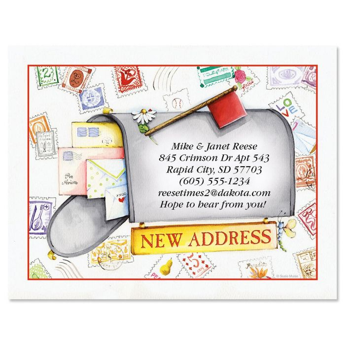 Keep in Touch New Address Postcards