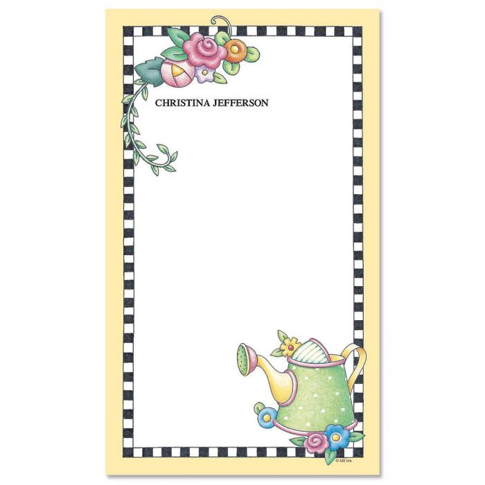 Mary's Garden Custom Memo Pads