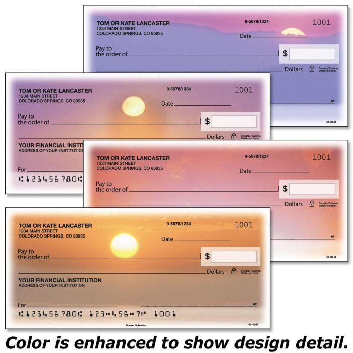 Sunset Splendor Personal Checks