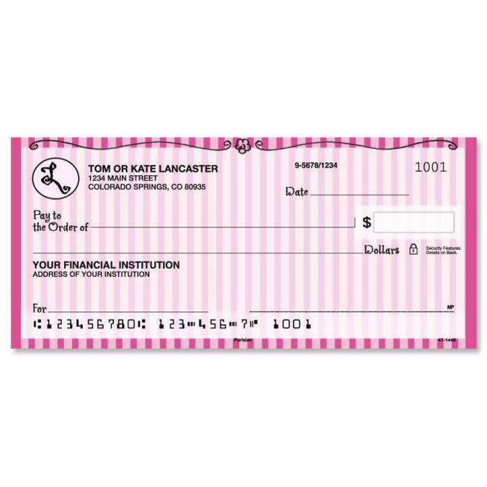 Parisian Initial Personal Checks