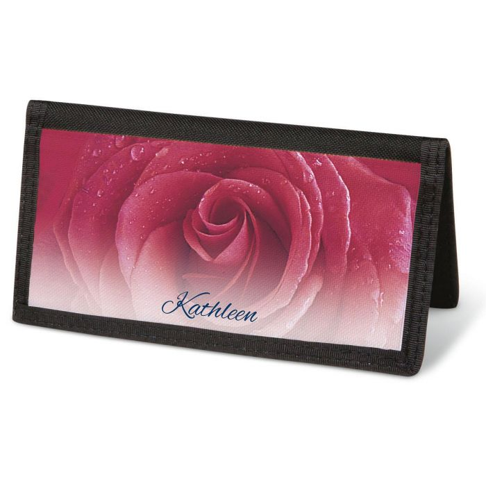 Fresh Roses  Checkbook Cover - Personalized