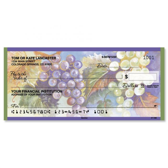 Bacchus Personal Checks