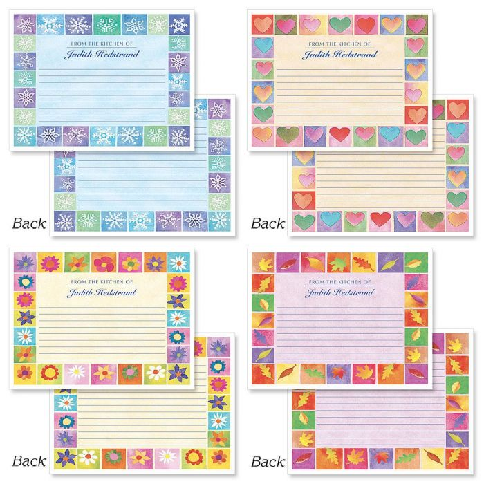 Seasons on Parade Canning Labels - Large