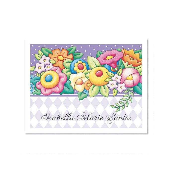 Floral Garden  Personalized Note Cards