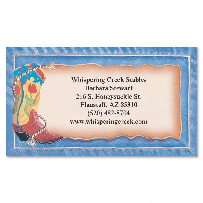 Rompin' Stompin' Boots  Business Cards