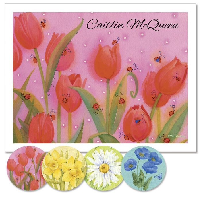 Springtime Delights Custom Note Cards