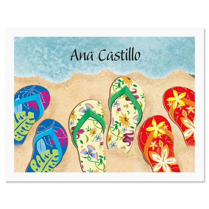 Baja Flip-Flops Custom Note Cards