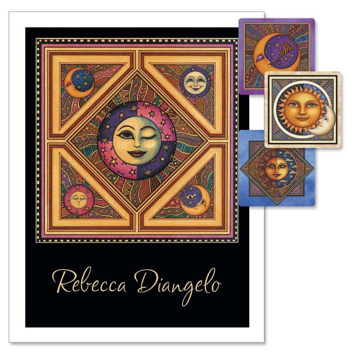 Sun & Moon Custom Note Cards