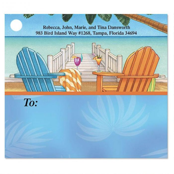 Bahama Breeze Package Labels