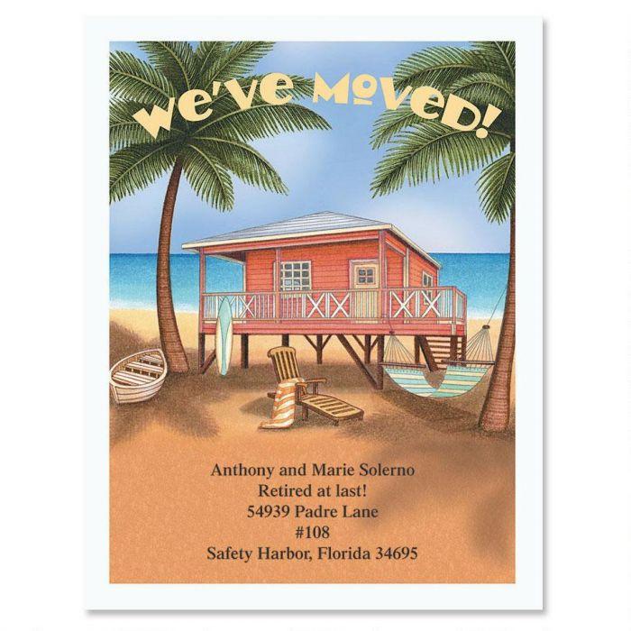 Bahama Breeze We've Moved Postcards