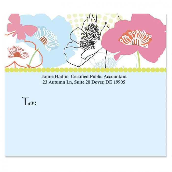 Floral Madness Package Labels