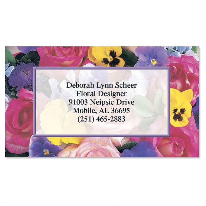 Beautiful blossoms business cards colorful images beautiful blossoms business cards colourmoves