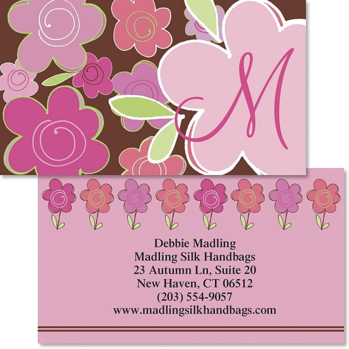 Shades of Pink Double-Sided Business Cards