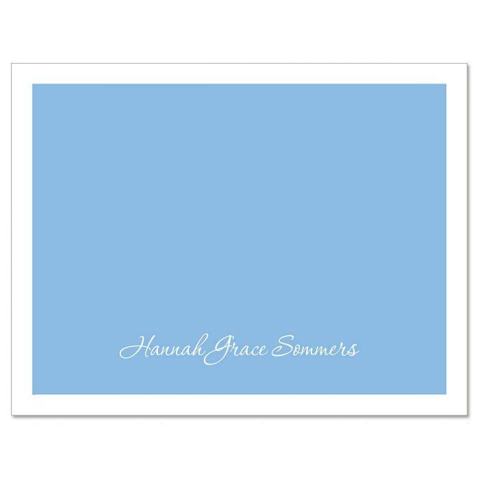 Blue & White  Custom Note Cards