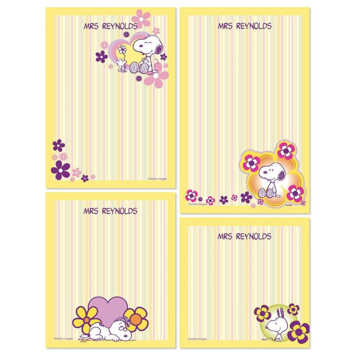 Snoopy™  Personalized Stationery Memo Set