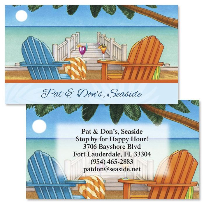 Bahama Breeze Double-Sided  Business Cards