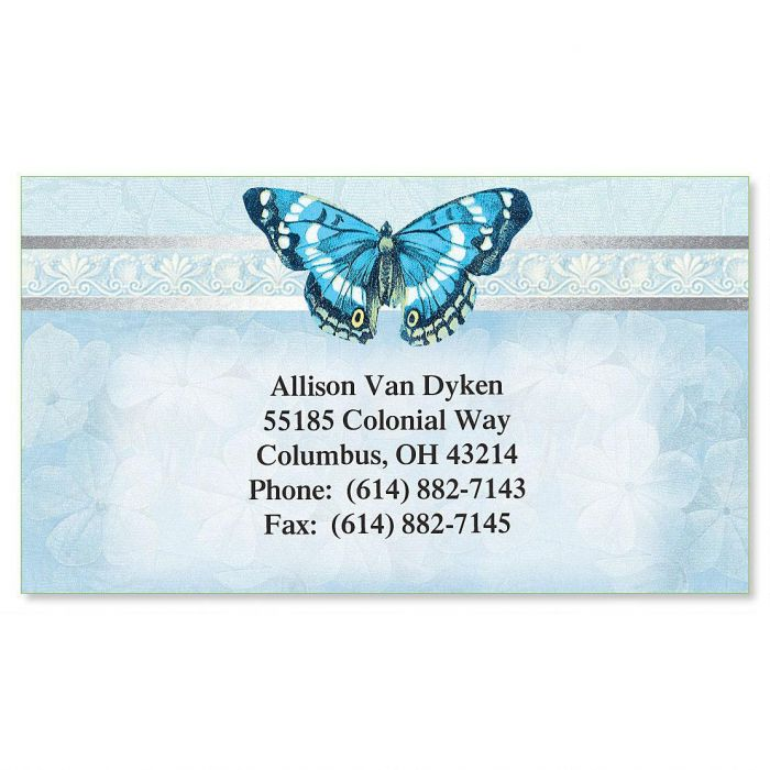 Blue Beauty  Foil Business Cards