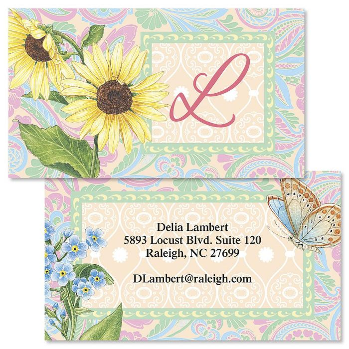 Tapestry Double-Sided Business Cards