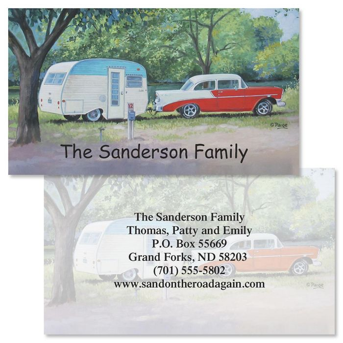 Travel Trailer  Double-Sided  Business Cards