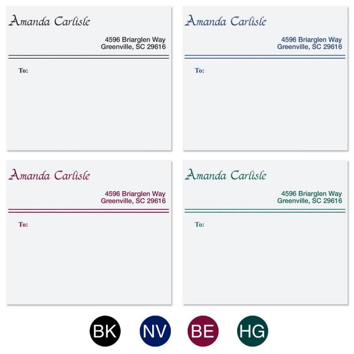 Elegant Lines Package Labels