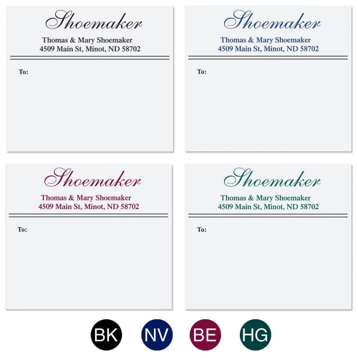 Last Name Package Labels