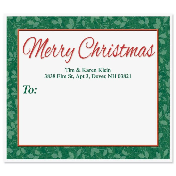 Merry Christmas  Package Labels