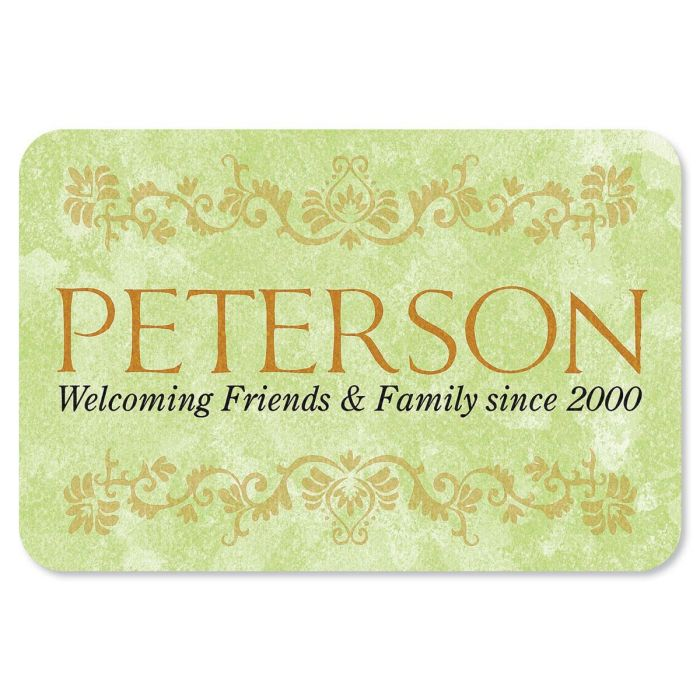 Welcoming Friends and Family Custom Doormat