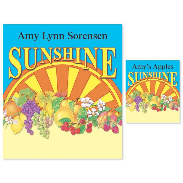 Sunny Valley Canning Labels