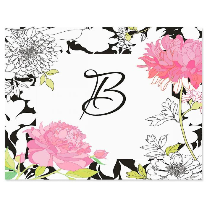 Just One Initial Custom Note Cards