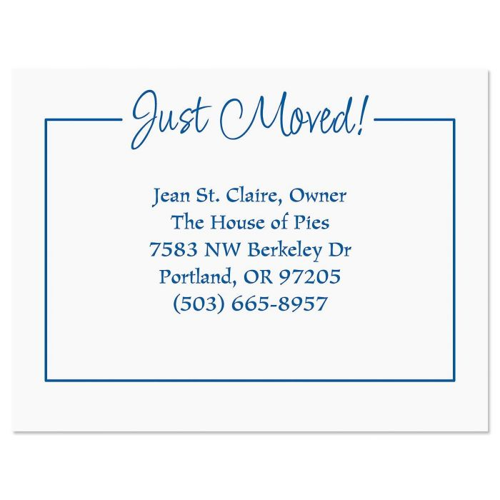 Just Moved New Address Postcards