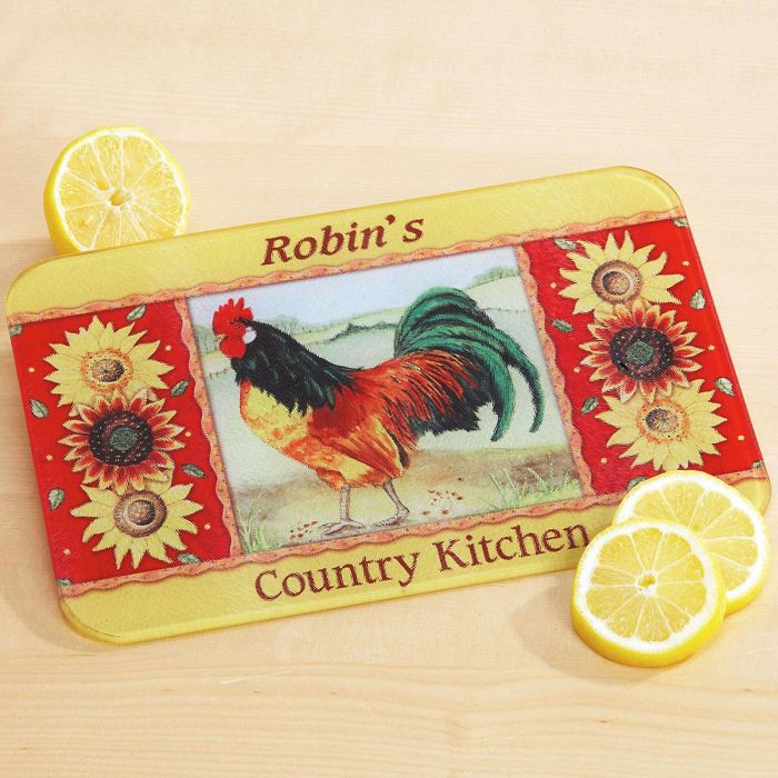 Rooster Personalized Custom Cutting Board