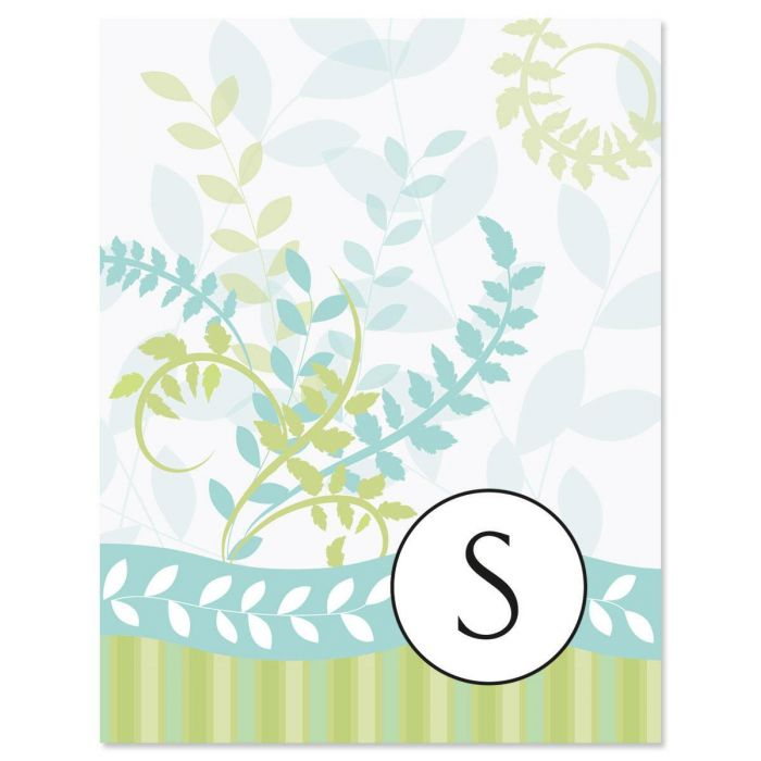 Breezy Initial Custom Note Cards